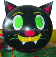 Large advertising PVC inflatable helium balloon, inflatable cat helium balloon, helium sphere for sale K7001