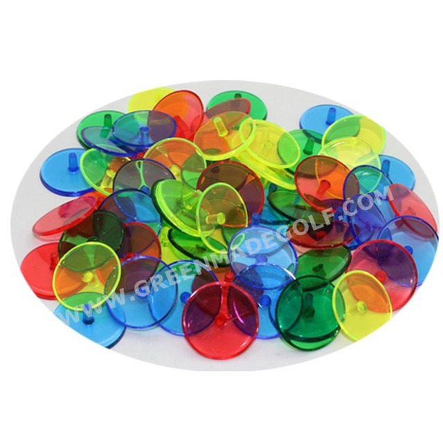 Plastic clear crystal ball marker golf wholesale golf ball marker