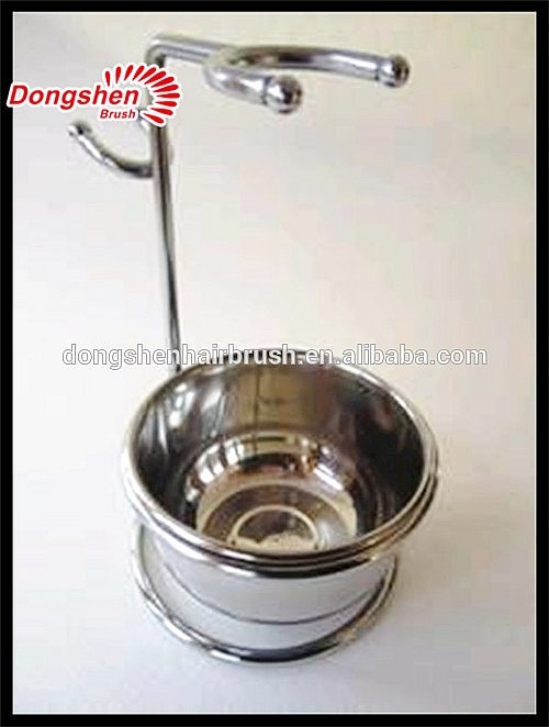 New Arrival Metal Shaving Stand With Stainless Steel Shaving Bowl