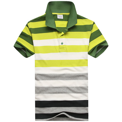 Green striped polo shirt 2015 New Fashion 100% cotton Men Polo Shirts brands Short Sleeve Camisas us Polo Male Sport Tops&Tees