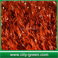 Environmental Hot Sale Easy Installing Red Artificial Grass