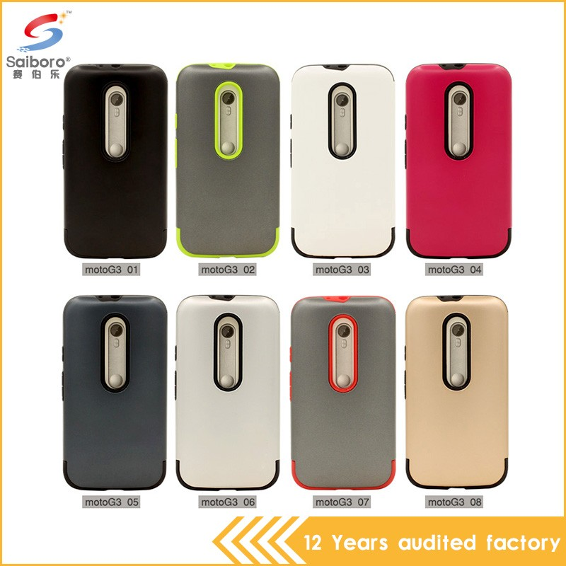 Factory selling customized mobile phone case for moto g 3 back cover
