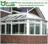 DIY sunroom,glass room,flower room,green room,aluminium allor frame with glass sunroom--PNOC003.