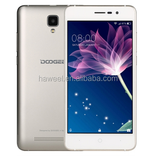 DOOGEE X10, 512MB+8GB 5.0 inch Android 6.0 MTK6570 Quad Core up to 1.3GHz, Network: 3G, WiFi, OTA, GPS, Dual SIM(Gold)