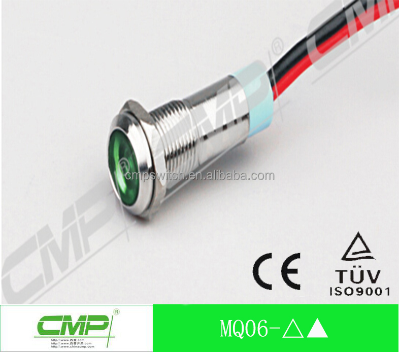 CMP Factory price 6mm waterproof led stainless steel indicator light