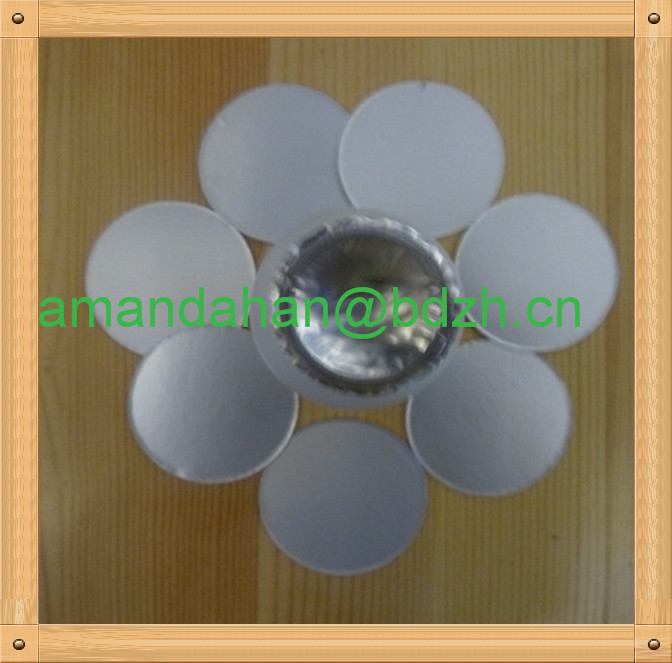 China Supplier Customized Printed Aluminium Paper Lids For Cap ...