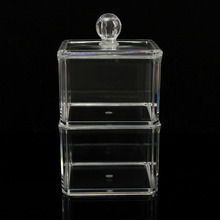 2 Tiers Acrylic Cosmetic Storage Organizer Nail Polish Carrying Case