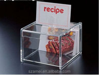 2014 pop sale acrylic makeup organizer clear box cosmetic cases,clear acrylic box with dividers