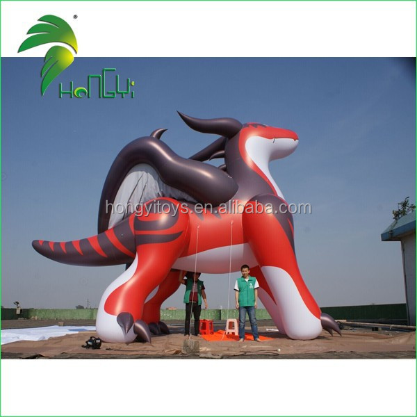 Hongyi PVC Giant Inflatable Flying Red Dragon, Inflatable Animal Sex Toys