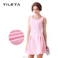 fashionable stripped cute sleeveless oem professional ladies dress suppliers