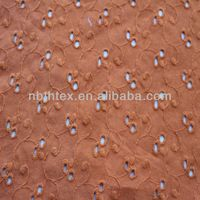 different pattern of 100% cotton woven embroidery fabric