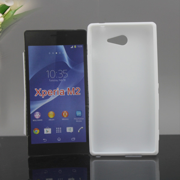 2014 newest tpu back cover case for sony xperia m2