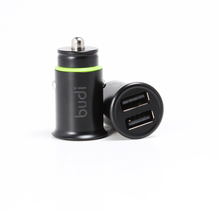 Car Charger 4.8A Aluminum Alloy Car Charger Adapter Dual 2 USB Port Fast Car Charging Mini Flush Fit for mobiles from budi