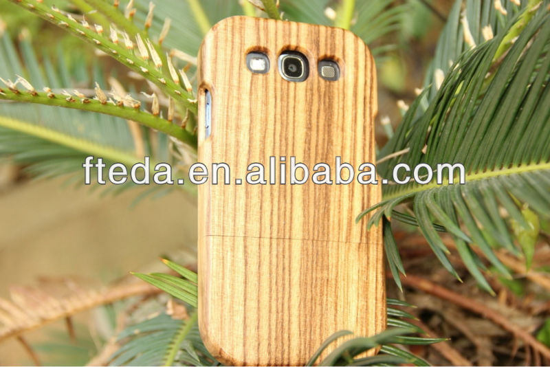 Hand Made Genuine Natural Real Bamboo Wood Wooden Hard Cover Case for Samsung Galaxy S3 i9300
