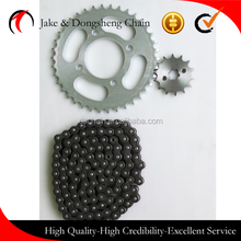 China manufacturer golden motorcycle chain 420, bajaj discover chain sprocket