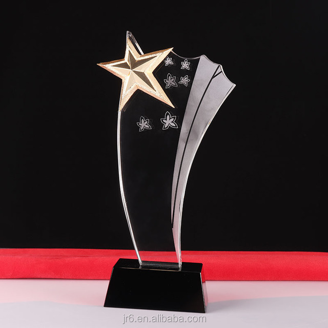 Hot sale crystal awards Business star blank crystal award plaque for corporate giveaways