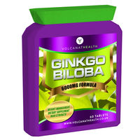 Ginkgo Biloba 6000mg Tablets Dietary Supplement Pills Volcanat Health Premium Flat Bottle