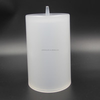 Clear white acrylic lucite plastic lamp shade