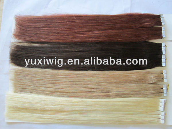 Cheap tape in hair extensions virgin indian remy human hair