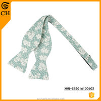 100% Fashion Floral Wholesale Cheap Cotton Self Bow Ties