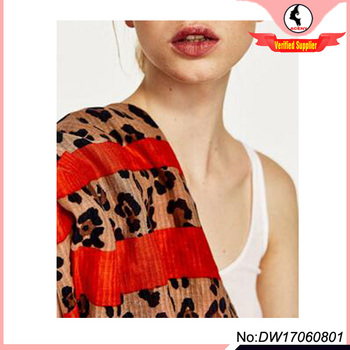 2017 animal print scarf for Fashion Girl and Lady