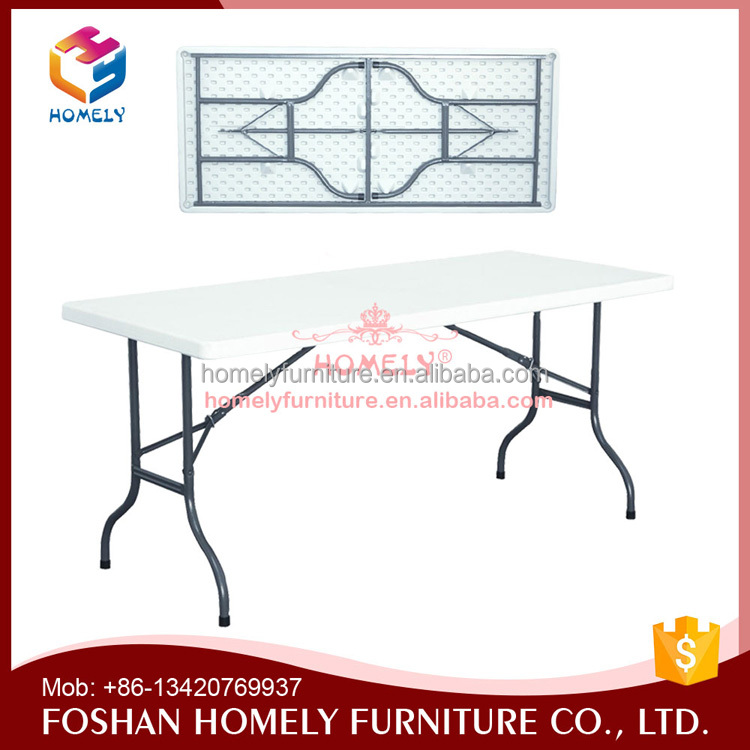 Blow mould plastic foldable table