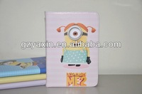 Lovely for ipad mini despicable me minion leather case,despicable me 2 case for ipad mini