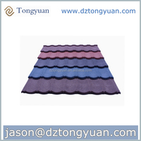 tongyuan japanese style roof tile made in China/corrugation classic stone metal roof tile