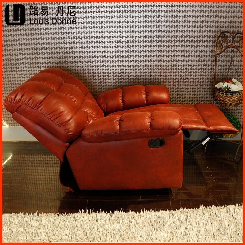 Modern top red leather sofa electric recliners sofa luxury leather recliner chair lazy boy recliner chair