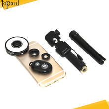 Selfie LED Light Clip Mobile Phone Camera Lens with bluetooth remote shutter for all smartphone