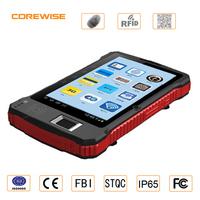 New design 4G industrial biometric fingerprint sensor,QR barcode scanner,usb rfid 13.56mhz long range card reader writer