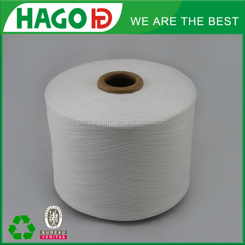 recycle cotton yarn for socks knitting tricot high quality
