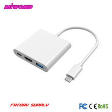 High Speed 4k Usb 3.1 Type C Cable 3.0 Charger to Hdmi Adapter Hub Connector for Macbook