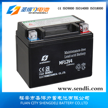 Best price 12volt 12v4ah maintenance free motorcycle battery