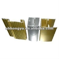 golden anodised aluminum aluminio window door frame profiles