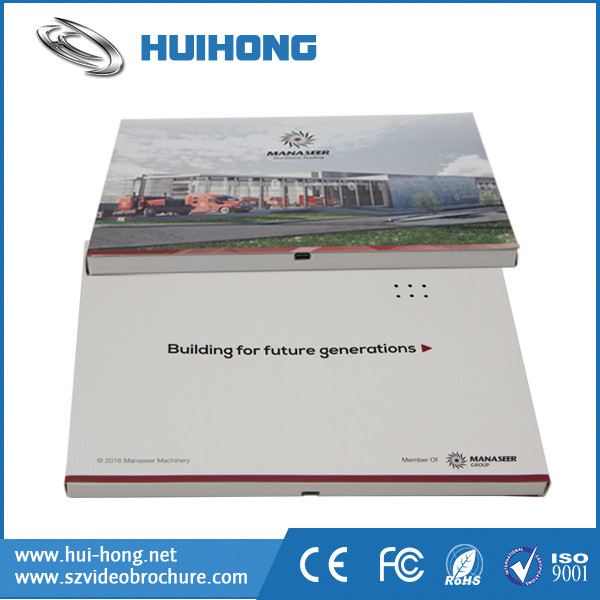 Paper Craft LCD Screen Electronic Video Greeting Card for Banquet Invitation