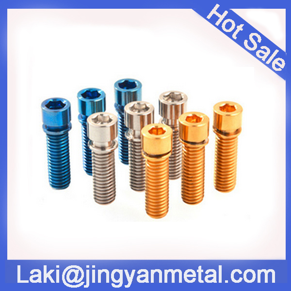 cnc turning machined anode aluminium button head cap screw made in china