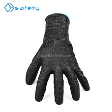 Good grip 18G HPPE fiber knit pu coated working safety cut resistant gloves