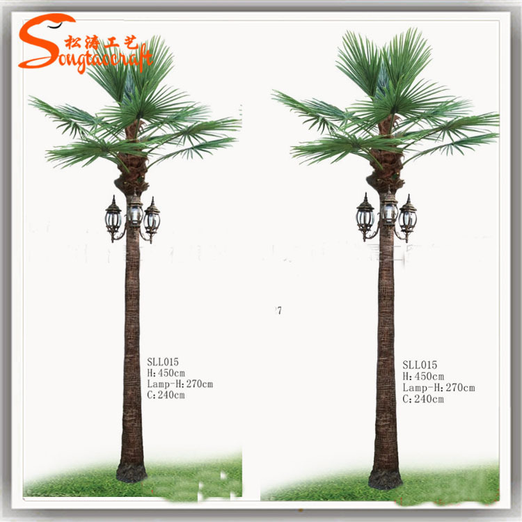 Different style artificial led coconut palm trees light of for Iluminacion para palmeras