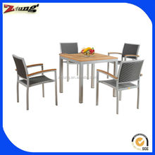 ZT-1025CT Aluminum solid wood outdoor furniture