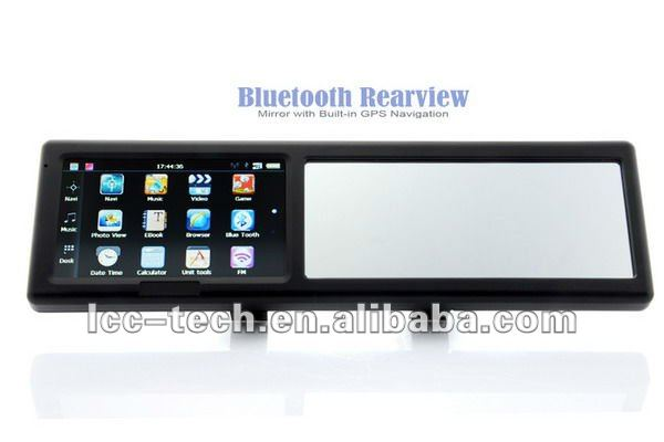 Caller ID Ultra slim bluetooth rearview mirror handsfree car kit