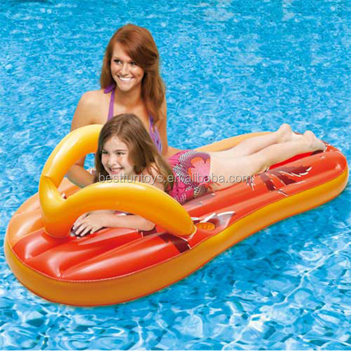 Inflatable Flip Flop Pool Floats Plastic Thong Air Water