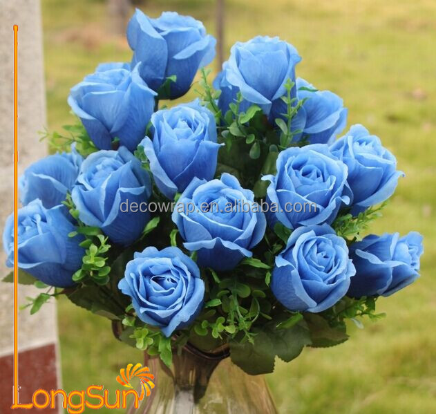 Blue Artificial Flower Bouquet for Wedding