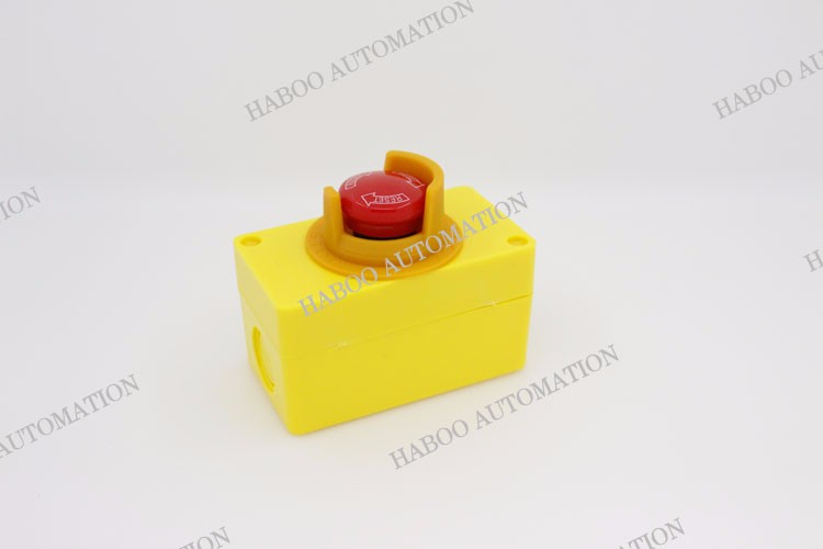 HABOO diameter 16mm emergency stop switch 1NO+1NC/2NO+2NC e-stop switch 5A 250V