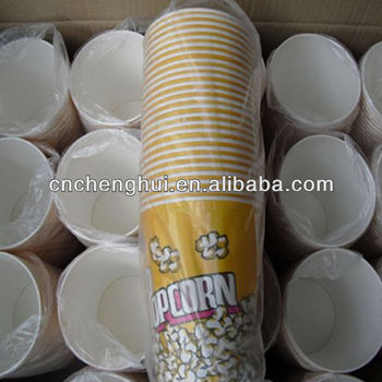 Paper popcorn buckets, promotional paper popcorn boxes, paper tubs for popcorn