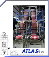 ATLAS Two Colors Co-Extrusion plastic bag making machine