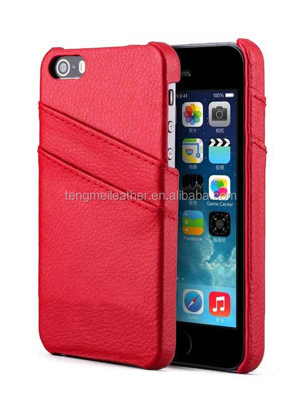 red case for iphone6 magnetic pu Leather wallet flip Case skin cover