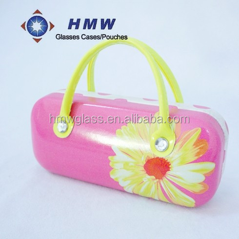 Top Brand Custom Metal Sunglasses Case of photo image with handle for kid/lady etc.