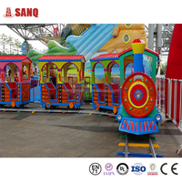 SANQGROUP FACTORY Kids & Adults Amusement Track Electric Train For Amusement Park And Shopping Mall