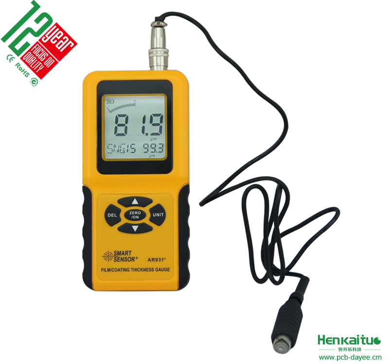 AR931 Handheld <strong>Thickness</strong> Gauge Measure Range 0~1800 Film Coating <strong>Thickness</strong> Gauge
